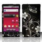 Hard Rubber Feel Design Case for Motorola Triumph WX435 (Virgin Mobile) - Midnight Garden