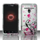 Hard Rubber Feel Design Case for LG Revolution 4G/Esteem (Verizon/MetroPCS) - Pink Garden