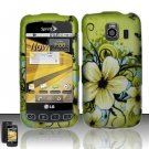 Hard Rubber Feel Design Case for LG Optimus S/U/V - Hawaiian Flowers