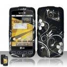 Hard Rubber Feel Design Case for LG Optimus S/U/V - Midnight Garden