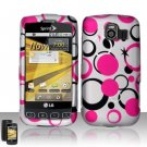 Hard Rubber Feel Design Case for LG Optimus S/U/V - Pink Dots
