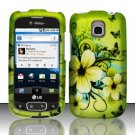 Hard Rubber Feel Design Case for LG Optimus T/Phoenix/Thrive (T-Mobile/AT&T) - Hawaiian Flowers