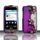 Hard Rubber Feel Design Case for LG Optimus T/Phoenix/Thrive (T-Mobile/AT&T) - Purple Vines
