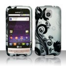 Hard Rubber Feel Design Case for LG Optimus M/C - Black Vines