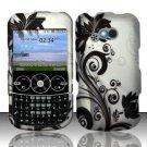 Hard Rubber Feel Design Case for LG 900g (StraightTalk) - Black Vines