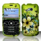 Hard Rubber Feel Design Case for LG 900g (StraightTalk) - Hawaiian Flowers
