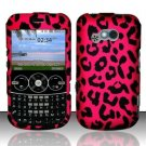 Hard Rubber Feel Design Case for LG 900g (StraightTalk) - Pink Leopard