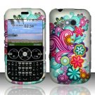 Hard Rubber Feel Design Case for LG 900g (StraightTalk) - Purple Blue Flowers