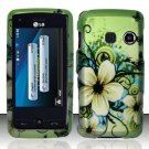 Hard Rubber Feel Design Case for LG Rumor Touch/Banter Touch (Sprint/MetroPCS) - Hawaiian Flowers