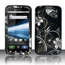 Hard Rubber Feel Design Case for Motorola Atrix 4G MB860 (AT&T) - Midnight Garden