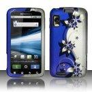 Hard Rubber Feel Design Case for Motorola Atrix 4G MB860 (AT&T) - Purple Vines