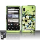 Hard Rubber Feel Design Case for Motorola Droid 2 A955 (Verizon) - Hawaiian Flowers