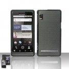 Hard Rubber Feel Design Case for Motorola Droid 2 A955 (Verizon) - Carbon Fiber