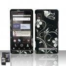 Hard Rubber Feel Design Case for Motorola Droid 2 A955 (Verizon) - Midnight Garden