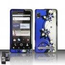 Hard Rubber Feel Design Case for Motorola Droid 2 A955 (Verizon) - Purple Vines