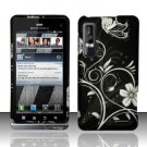 Hard Rubber Feel Design Case for Motorola Droid 3 (Verizon) - Midnight Garden
