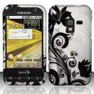 Hard Rubber Feel Design Case for Samsung Conquer 4G (Sprint) - Black Vines