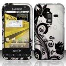Hard Rubber Feel Design Case for Samsung Conquer 4G (Sprint) - Black Vines