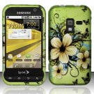 Hard Rubber Feel Design Case for Samsung Conquer 4G (Sprint) - Hawaiian Flowers