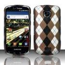 Hard Rubber Feel Design Case for Samsung Droid Charge i520 (Verizon) - Argyle