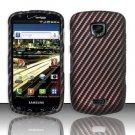 Hard Rubber Feel Design Case for Samsung Droid Charge i520 (Verizon) - Carbon Fiber V2