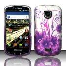 Hard Rubber Feel Design Case for Samsung Droid Charge i520 (Verizon) - Purple Garden