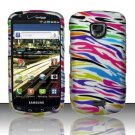 Hard Rubber Feel Design Case for Samsung Droid Charge i520 (Verizon) - Colorful Zebra