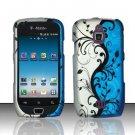 Hard Rubber Feel Design Case for Samsung Exhibit 4G - Blue Vines
