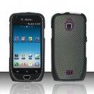 Hard Rubber Feel Design Case for Samsung Exhibit 4G - Carbon Fiber