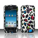 Hard Rubber Feel Design Case for Samsung Exhibit 4G - Colorful Leopard