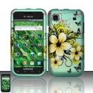 Hard Rubber Feel Design Case for Samsung Vibrant/Galaxy S T959 - Natural Flowers