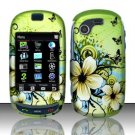 Hard Rubber Feel Design Case for Samsung Gravity Touch - Hawaiian Flowers
