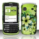 Hard Rubber Feel Design Case for Samsung Replenish M580 - Hawaiian Flowers