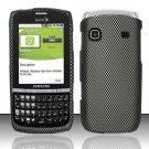 Hard Rubber Feel Design Case for Samsung Replenish M580 - Carbon Fiber