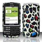 Hard Rubber Feel Design Case for Samsung Replenish M580 - Colorful Leopard
