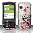 Hard Rubber Feel Design Case for Samsung Replenish M580 - Pink Garden