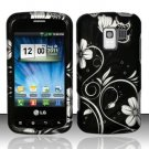 Hard Rubber Feel Design Case for LG Enlighten/Optimus Slider - Midnight Garden