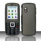 Hard Rubber Feel Design Case for Samsung T401g (StraightTalk) - Carbon Fiber