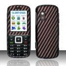 Hard Rubber Feel Design Case for Samsung T401g (StraightTalk) - Carbon Fiber V2