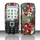 Hard Rubber Feel Design Case for Samsung T401g (StraightTalk) - Autumn Flowers