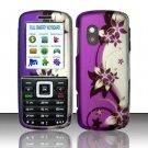 Hard Rubber Feel Design Case for Samsung T401g (StraightTalk) - Purple Vines