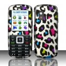 Hard Rubber Feel Design Case for Samsung T401g (StraightTalk) - Colorful Leopard