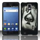 Hard Rubber Feel Design Case for Samsung Infuse 4G - Spade Skull