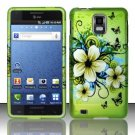 Hard Rubber Feel Design Case for Samsung Infuse 4G - Hawaiian Flowers
