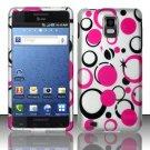 Hard Rubber Feel Design Case for Samsung Infuse 4G - Pink Dots
