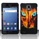 Hard Rubber Feel Design Case for Samsung Infuse 4G - Fire Kitten
