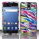 Hard Rubber Feel Design Case for Samsung Infuse 4G - Colorful Zebra
