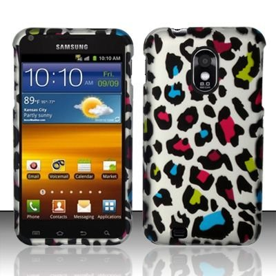 Hard Rubber Feel Design Case for Samsung Epic Touch 4G/Galaxy S2 (Sprint) - Colorful Leopard