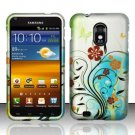 Hard Rubber Feel Design Case for Samsung Epic Touch 4G/Galaxy S2 (Sprint) - Flowery Design