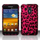 Hard Rubber Feel Design Case for Samsung Epic Touch 4G/Galaxy S2 (Sprint) - Pink Leopard